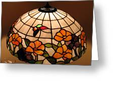 Stained-glass Lampshade Greeting Card by Suhas Tavkar