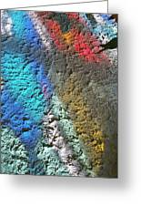 Stained Glass Light On Stucco Greeting Card