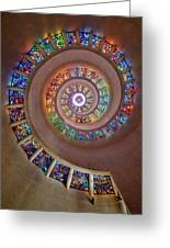 Stained Glass Spiral Greeting Card