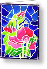 Stained Glass Sweet Peas Painting By Janis Grau