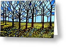 Stained Glass Trees Greeting Card
