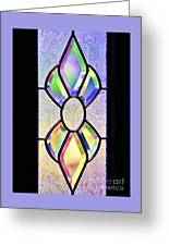 Stained Glass Watercolor Greeting Card