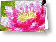Stained Glass Waterlily Greeting Card