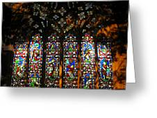 Stained Glass Window Christ Church Cathedral 1 Greeting Card