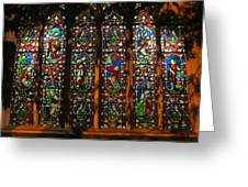 Stained Glass Window Christ Church Cathedral 2 Greeting Card