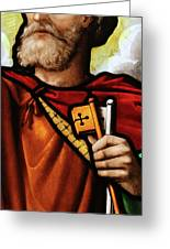 Stained Glass Window, St Peter Greeting Card