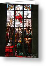 Stained Glass Window Vi Greeting Card