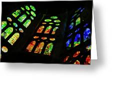 Stained Glass Windows -  Greeting Card