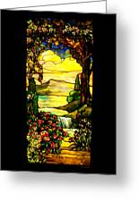 Stained Landscape Greeting Card