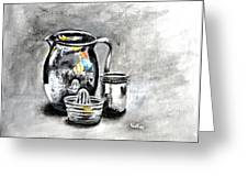 Stainless Steel Still Life Painting Greeting Card