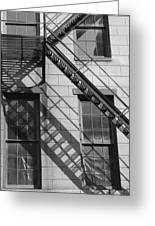 Stair Shadows Greeting Card