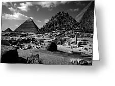 Stair Stepped Pyramids Greeting Card