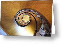 Staircase At Azay Le Rideau Greeting Card