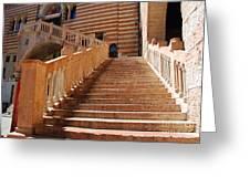 Staircase At Scala Della Ragione - Verona Italy Greeting Card