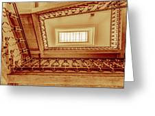 Staircase In Brown Greeting Card