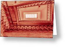 Staircase In Red Greeting Card