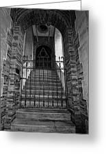 Stairs Beyond B-w Greeting Card