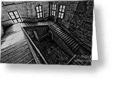 Stairs Black And White Greeting Card