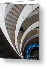 Stairs  Bruininks Hall University Of Minnesota Campus Greeting Card