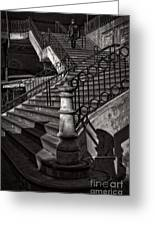 Stairs In The Markethall  Greeting Card