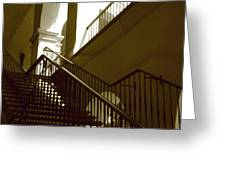 Stairs To 2nd Floor Greeting Card