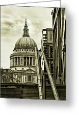 Stairs To St Pauls Greeting Card