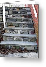 Stairs To The Plague House Greeting Card