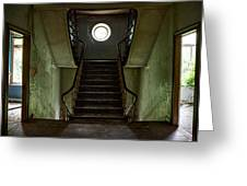 Stairs Toward The Attic - Abandoned House Greeting Card