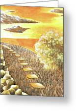 Stairs Towards The Horizon Greeting Card