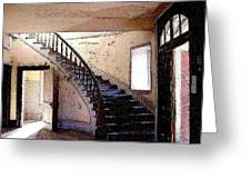 Stairway -  Meade Hotel - Bannack Mt Greeting Card