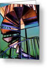 Stairway Bright Greeting Card