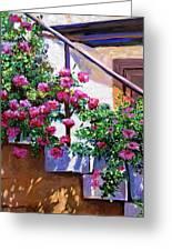 Stairway Floral Plein Air Greeting Card