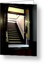 Stairway In A Mirror Greeting Card