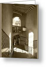 Stairway - In Sepia Greeting Card
