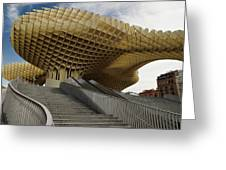 Stairway Leading Up To Metropol Parasol In The Plaza Of The Inca Greeting Card
