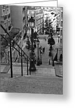 Stairway On Montmartre Greeting Card