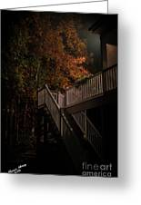 Stairway To Autumn Leaves Greeting Card