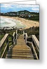 Stairway To Beach Greeting Card
