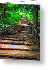 Stairway To Heaven Impasto Greeting Card