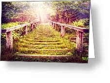 Stairway To The Garden Greeting Card