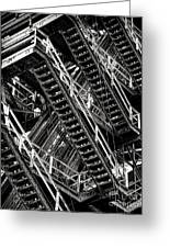 Stairwell Hell Greeting Card