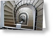 Stairwell In Presidente Hotel  Greeting Card