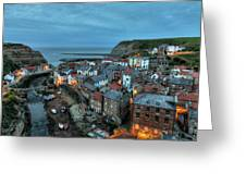 Staithes Evening Greeting Card