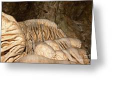 Stalactite Formation In Karst Cave Greeting Card