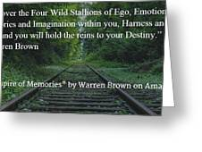 Stallions Of Destiny Greeting Card