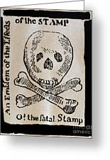 Stamp Act: Cartoon, 1765 Greeting Card by Granger