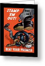 Stamp Em Out - Beat Your Promise Greeting Card