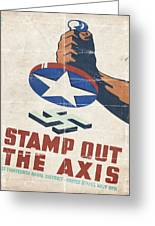 Stamp Out The Axis - Folded Greeting Card