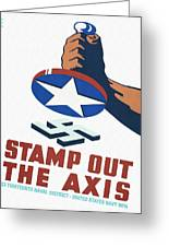 Stamp Out The Axis - Restored Greeting Card