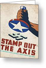 Stamp Out The Axis - Vintagelized Greeting Card